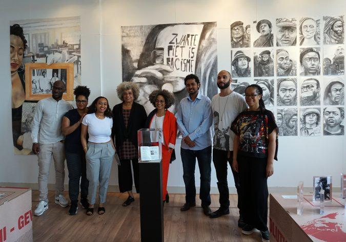 Agela Davis & Gina dent visiting the Black Archivess